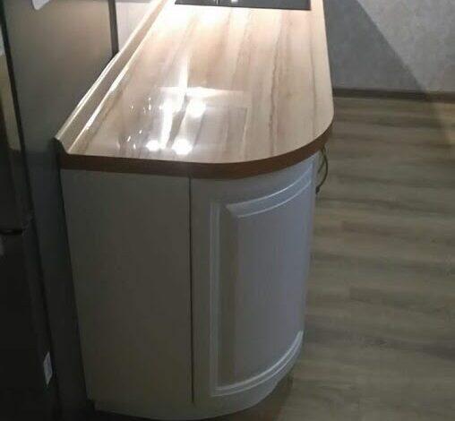 Радиусная мини кухня