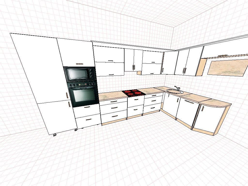 Кухня с радиусным углом