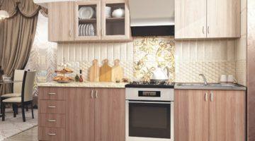 Кухня с фасадом из ПВХ