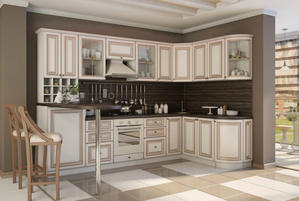 Радиусная мебель для кухни