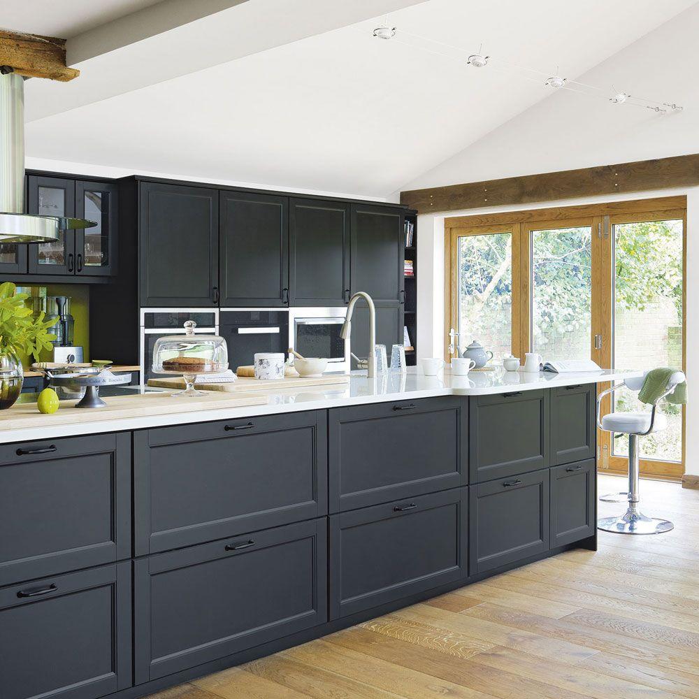 Современная кухня под потолок