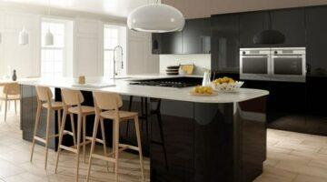 Акриловая черная кухня