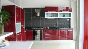 Акриловая красная кухня