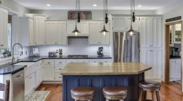 Угловая эмалевая кухня