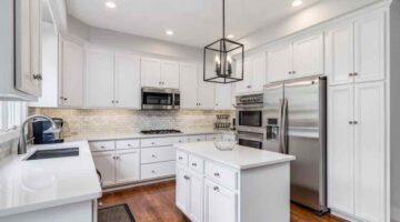 Белая эмалевая кухня