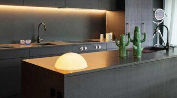 Кухня с фасадом эмаль