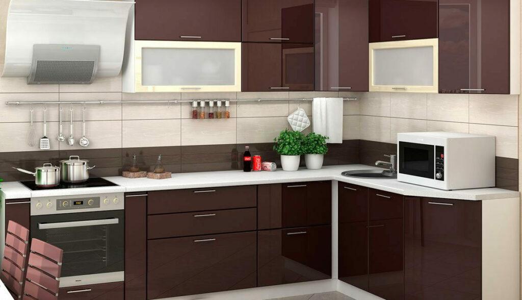 Глянцевый фасад для кухни